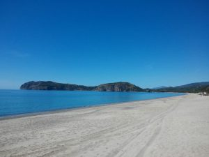 The beach of Mingardo, marina di camerota