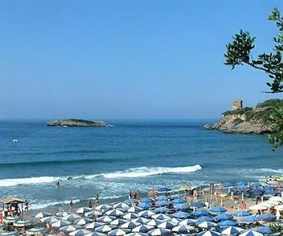 spiaggia dell'Hotel Santa Rosalia